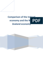 Comparison of the Ireland Economy and the New Zealand Economy