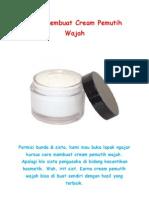 Cara Membuat Cream Pemutih Wajah