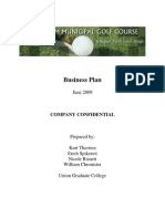 Golf Course Business Plan - Union College 2009
