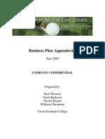 Golf Course Business Plan Appendecies - Union College 2009