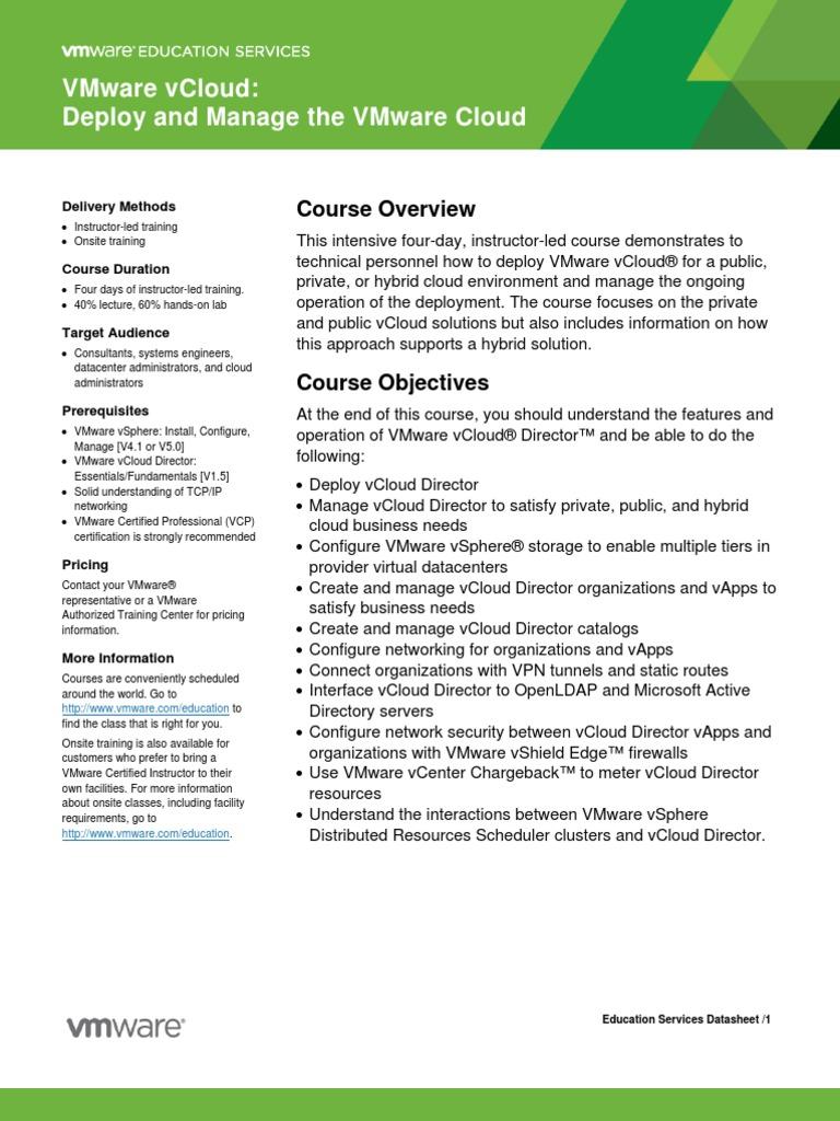Edu datasheet vclouddeploymanage v1571 cloud computing v mware xflitez Images