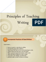 Principle of Teaching Writing