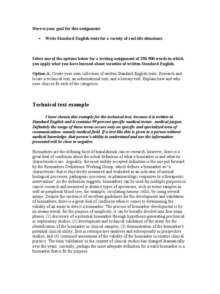 Critical comparison essay