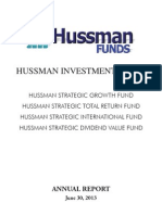 Hussman Annual Report 3rd BUBBLE