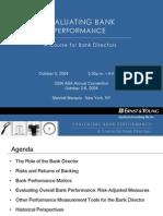 Bank Directors Scorecard