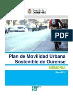 Plan de Movilidad Urbana Sostenible de Ourense