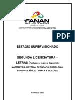 PLANO DE TRABALHO - ESTÁGIO  2ª  LICENCIATURA