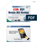 113th HSJV Weekly Meeting