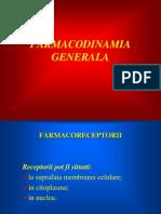 FARMACODINAMIA GENERALA