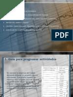 Guía para programar actividades