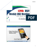 129th HSJV Weekly Meeting