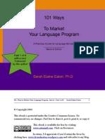 101 Ways to Market Your Language Program - ebook - Part 1.pdf