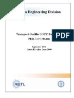 Transport Gasifier IGCC Base Cases