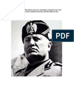 To what extent did Mussolini's character and personality 3