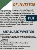 Types of Investorsrisks