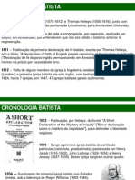 Cronologia Batista