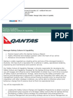 Manager Safety Culture & Capability