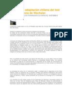 Publican la adaptación chilena del test de inteligencia de Wechsler
