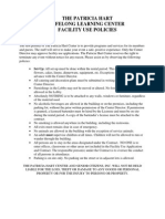 Knowles Center Facility Use Policies