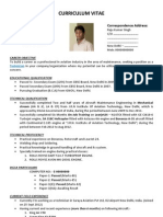 Best Resume CV Format for AME