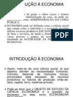 Aula 01 - Introdução a economia