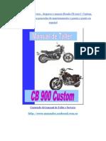 Manual de Taller Honda Cb 900 Custom
