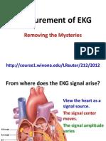 Measurement of EKG