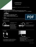 New Jawbone Quick Start Guide