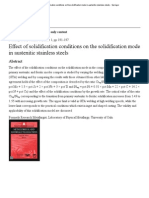 Effect of Solidification Conditions on the Solidification Mode in Austenitic Stainless Steels - Springer