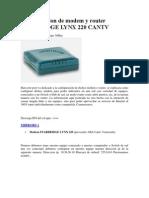 Configuracion de Modem y Router STARBRIDGE LYNX 220 CANTV