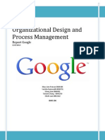 Organisational Design Google Report IBMS 206