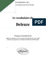 Zourabichvili, François. Vocabulaire de Deleuze