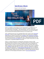The Dr Oz and Palm Oil