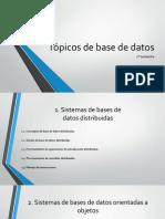 Tópicos de base de datos U1