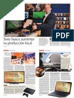 Sony busca aumentar su producción en Argentina
