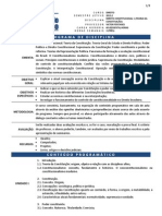 Programa de Direito Constitucional 1 (Teoria da Constituição) - FRM