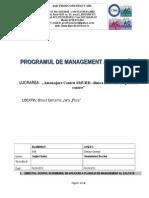 Programul de management al calitatii aplicat la lucrare