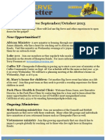 247serve Newsletter Fall 2013 Sept - Oct
