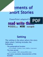 Elements of Short Stories