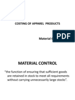 Inventory, Wastage & Parameters for Fabric Costing