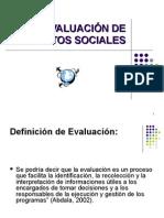 Evaluación de Proyectos Sociales 2009