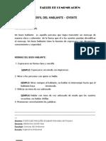 Informe  HABLANTE-OYENTE
