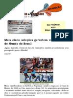 Mais cinco seleções garantem vaga na Copa do Mundo do Brasil