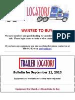 NEIN/Trailer Locators Bulletin 9-11-13