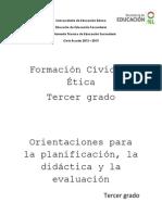 Orientaciones para la planificación, la didactica y la evaluacion.