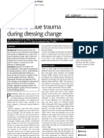 Pain and Tissue Trauma During Dressing Change