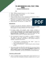 TRATAMIENTO INFORMÁTICO DEL TEST