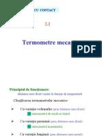 2.2 - Masurarea Temperaturii - Termometre Mecanice