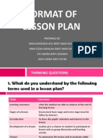 Format of Lesson Plan