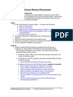 REFERENCE PM AuditReview Procedure